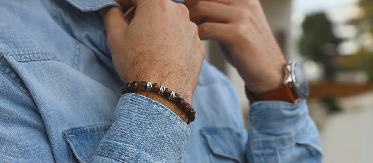 Personalized Name Bracelts for Men