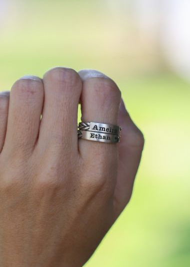 Love Braids Name Ring [Sterling Silver]
