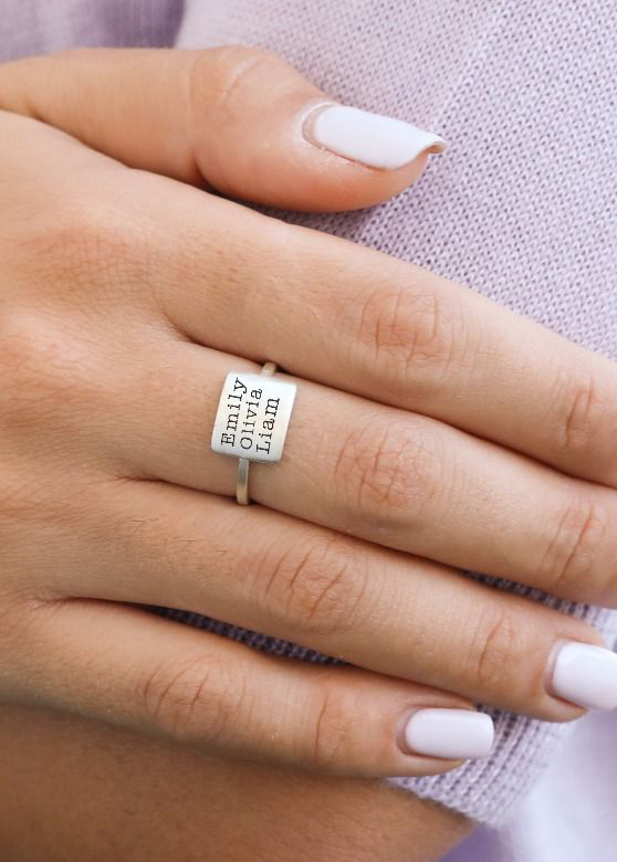 Sealed With Love Name Ring [Sterling Silver]