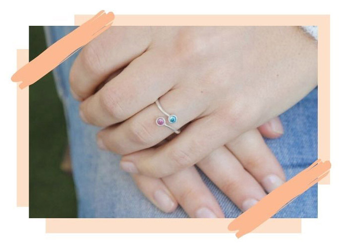 Two Stones Promise Ring